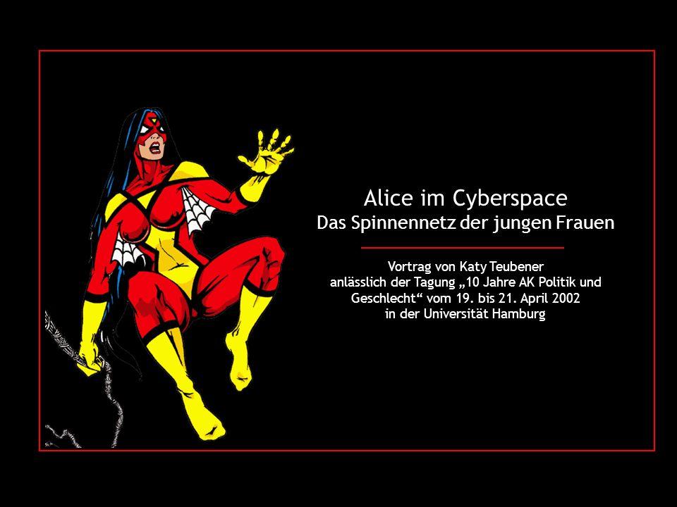 Alice im Cyberspace Das Spinnennetz der jungen Frauen Vortrag von Katy Teubener anlässlich der Tagung 10 Jahre AK Politik und Geschlecht vom 19.
