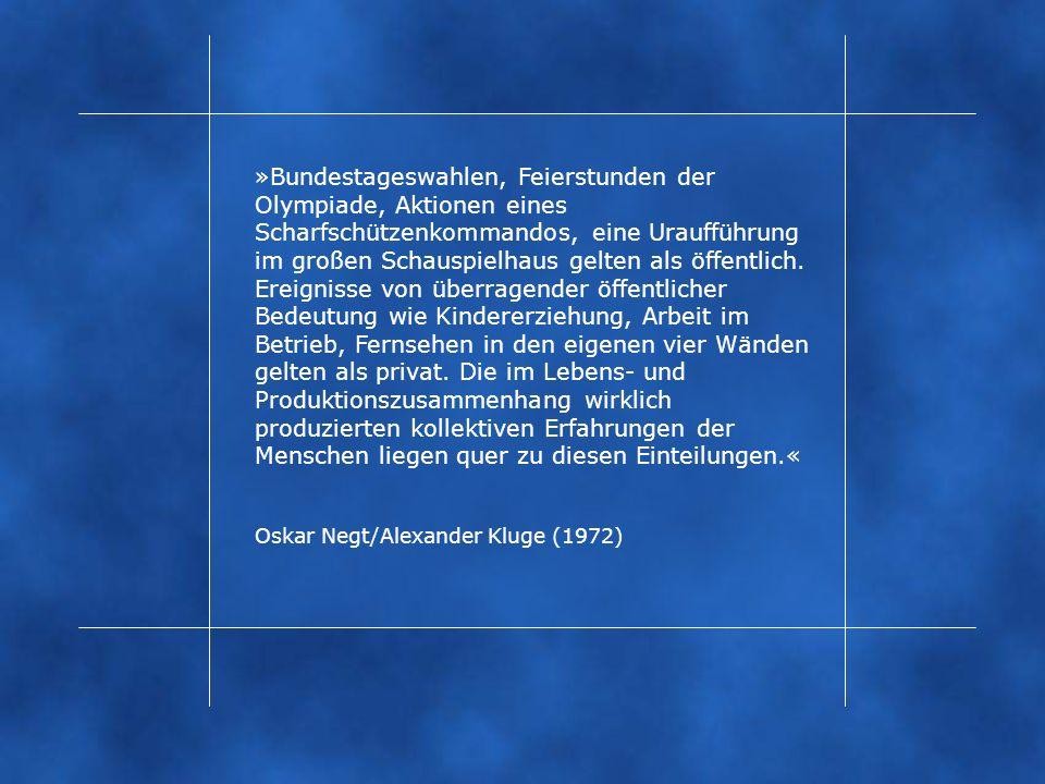 »Bundestageswahlen, Feierstunden der Olympiade, Aktionen eines Scharfschützenkommandos, eine Uraufführung im großen Schauspielhaus gelten als öffentlich.