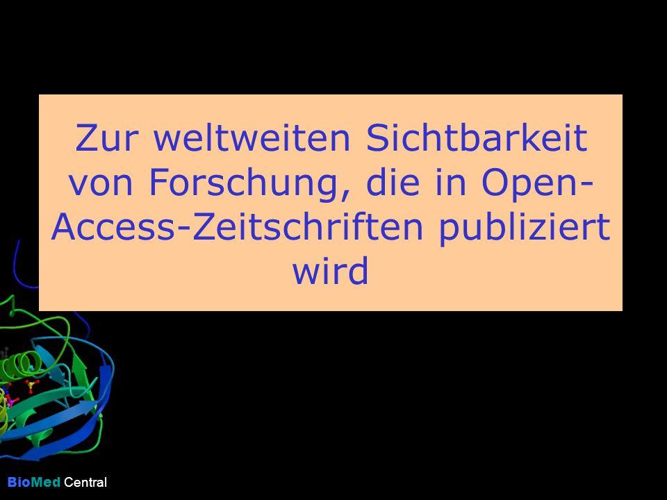 Zur weltweiten Sichtbarkeit von Forschung, die in Open- Access-Zeitschriften publiziert wird