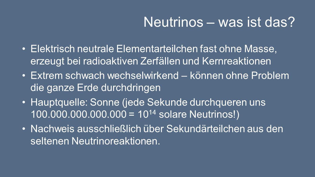 Neutrinos – was ist das.