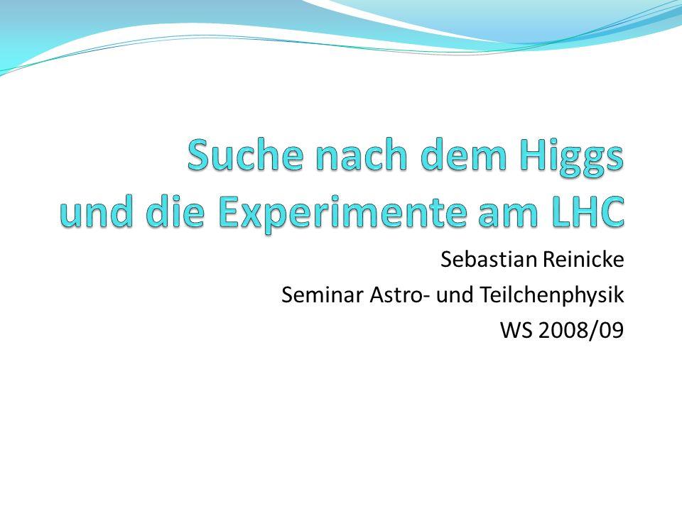 Sebastian Reinicke Seminar Astro- und Teilchenphysik WS 2008/09