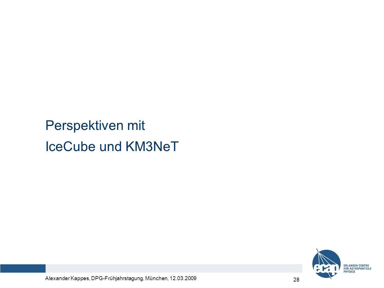 Alexander Kappes, DPG-Frühjahrstagung, München, 12.03.2009 28 Perspektiven mit IceCube und KM3NeT