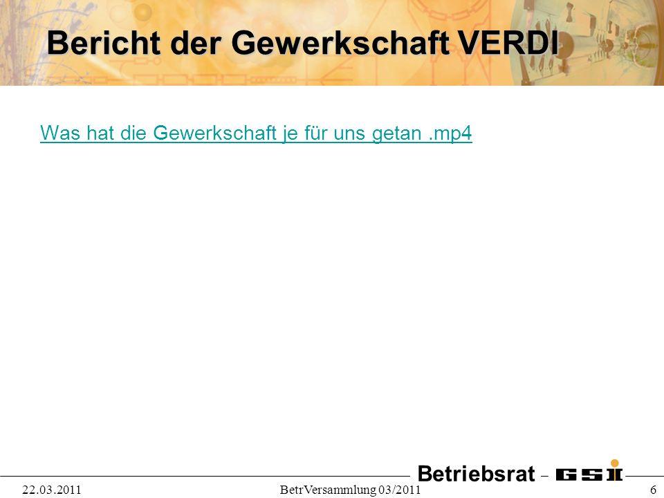 Betriebsrat 22.03.2011BetrVersammlung 03/2011 7 Die Sozialberatung stellt sich vor..