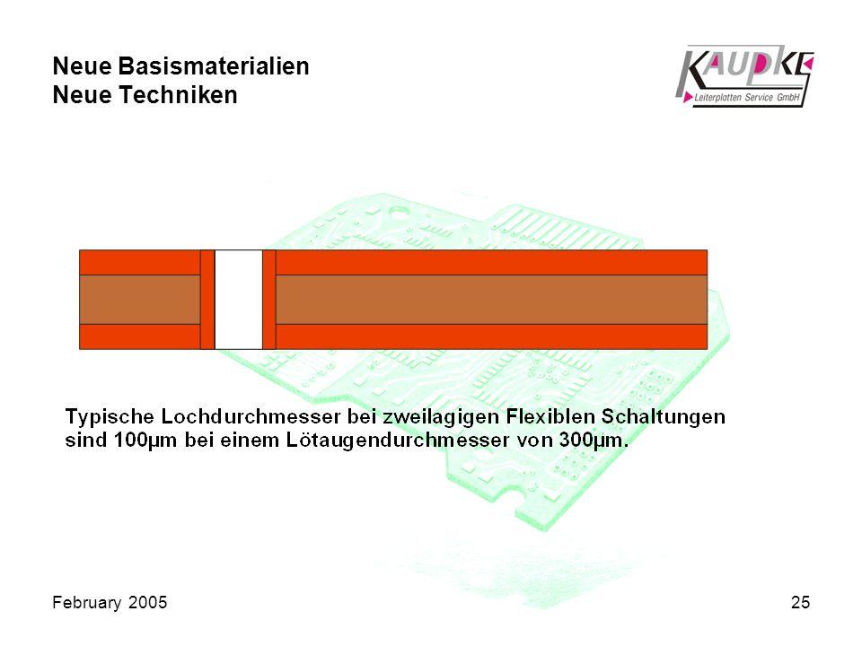 February 200525 Neue Basismaterialien Neue Techniken
