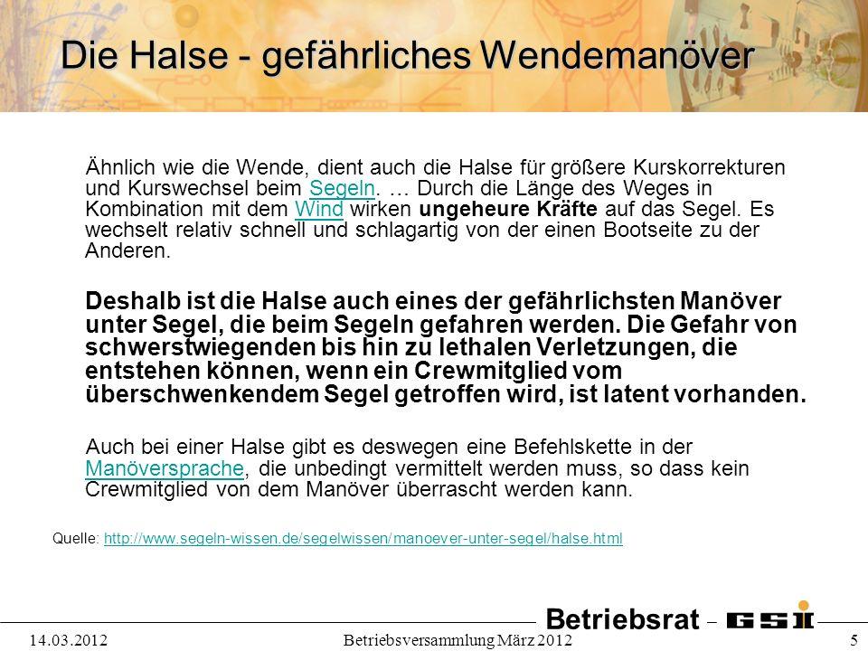 Betriebsrat 14.03.2012Betriebsversammlung März 2012 6 Zielkonflikte und neues Projekt Welcher Beschleunigerbetrieb ist zur Erhaltung der Anlage erforderlich.