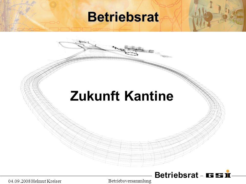 Betriebsrat 04.09.2008 Helmut Kreiser Betriebsversammlung Betriebsrat Zukunft Kantine