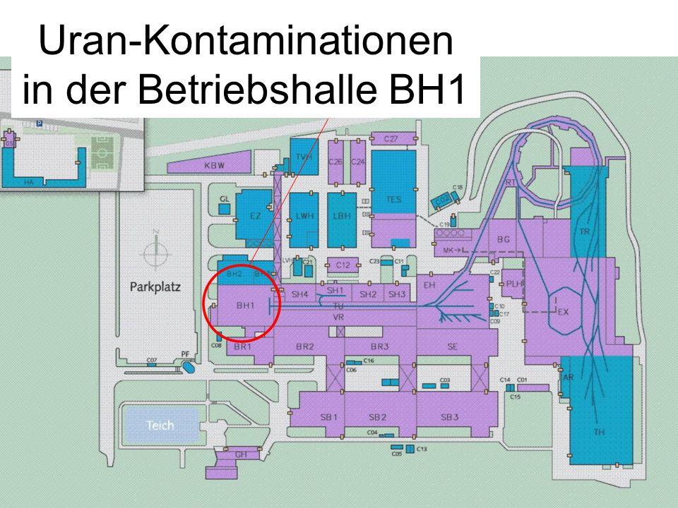 1 Uran-Kontaminationen in der Betriebshalle BH1