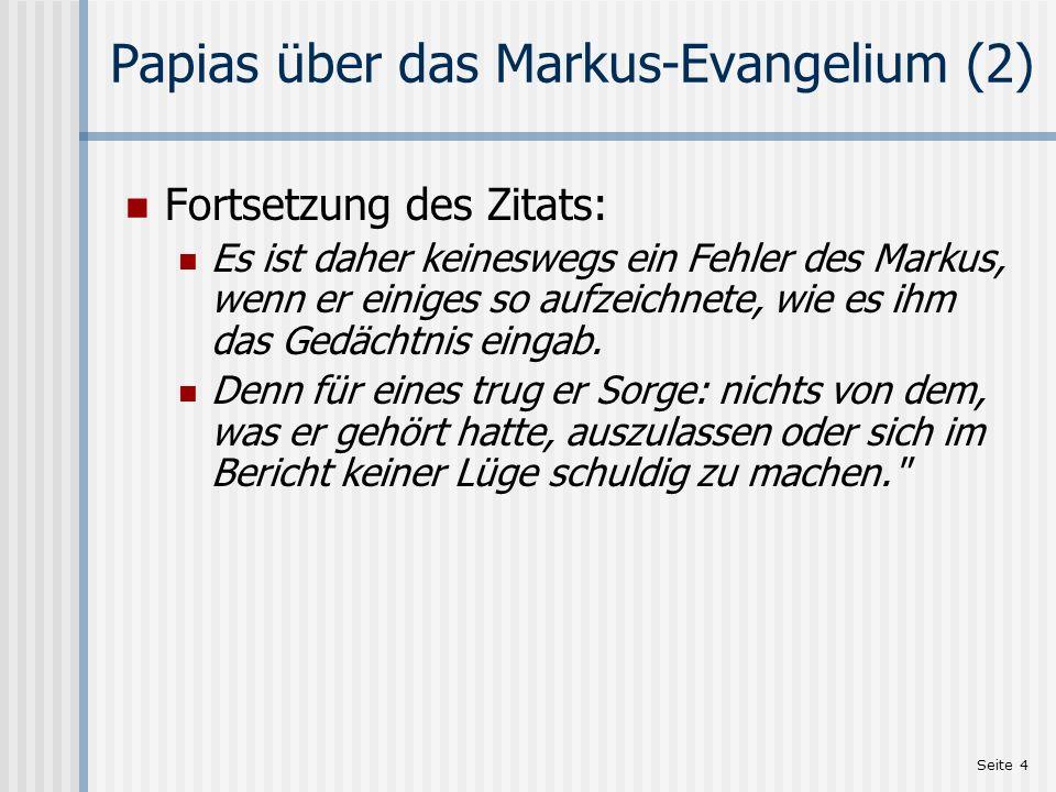 Seite 5 Wer war Johannes Markus.