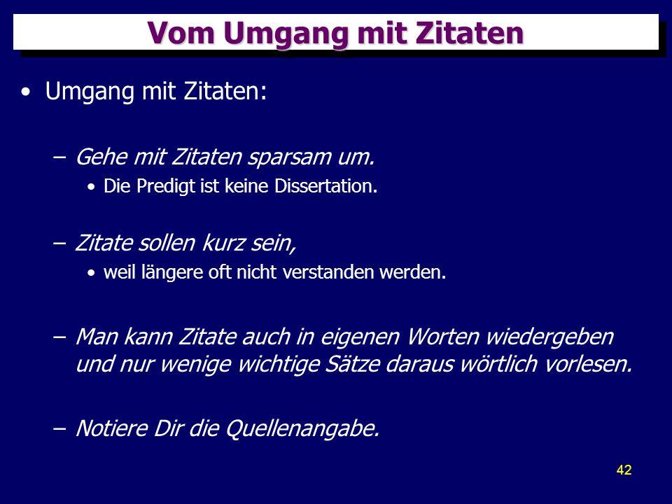 43 QuellenQuellen Diese Präsentation wurde aus folgenden Büchern zusammengestellt: –Helge Stadelmann, Schriftgemäß predigen, TVG, Wuppertal: R.