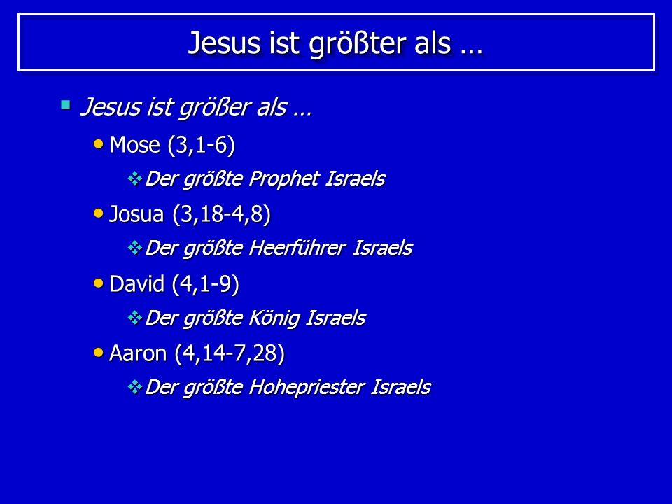 Um was es geht Wir sollen auf Jesus sehen; das betonen folgende Hinweise: Wir sehen auf Jesus (2,9) Wir sehen auf Jesus (2,9) Betrachtet den Apostel und Hohenpriester unseres Bekenntnisses, Jesus.