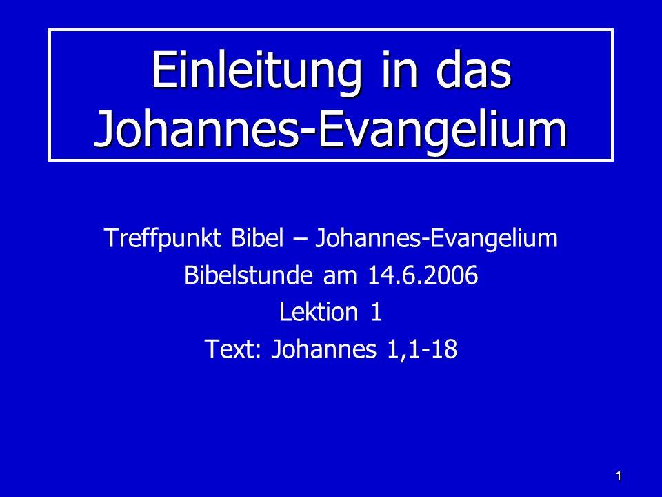 2 Johannes – und seiner Schriften 5 Schriften des Neuen Testaments sind dem Johannes zugeschrieben: Johannes-Evangelium Johannes-Evangelium 1.