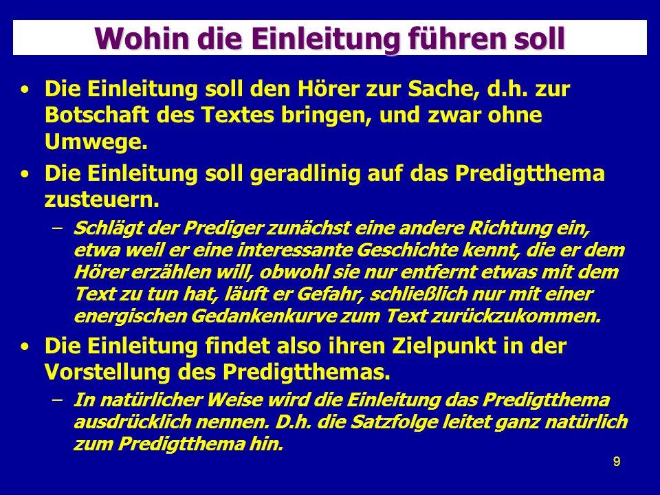 20 Beispiel: Erzählen einer Anekdote Einleitung zur Predigt von Theo Lehmann über Apostelgeschichte 14,1-22 (Paulus in Lystra) 13.