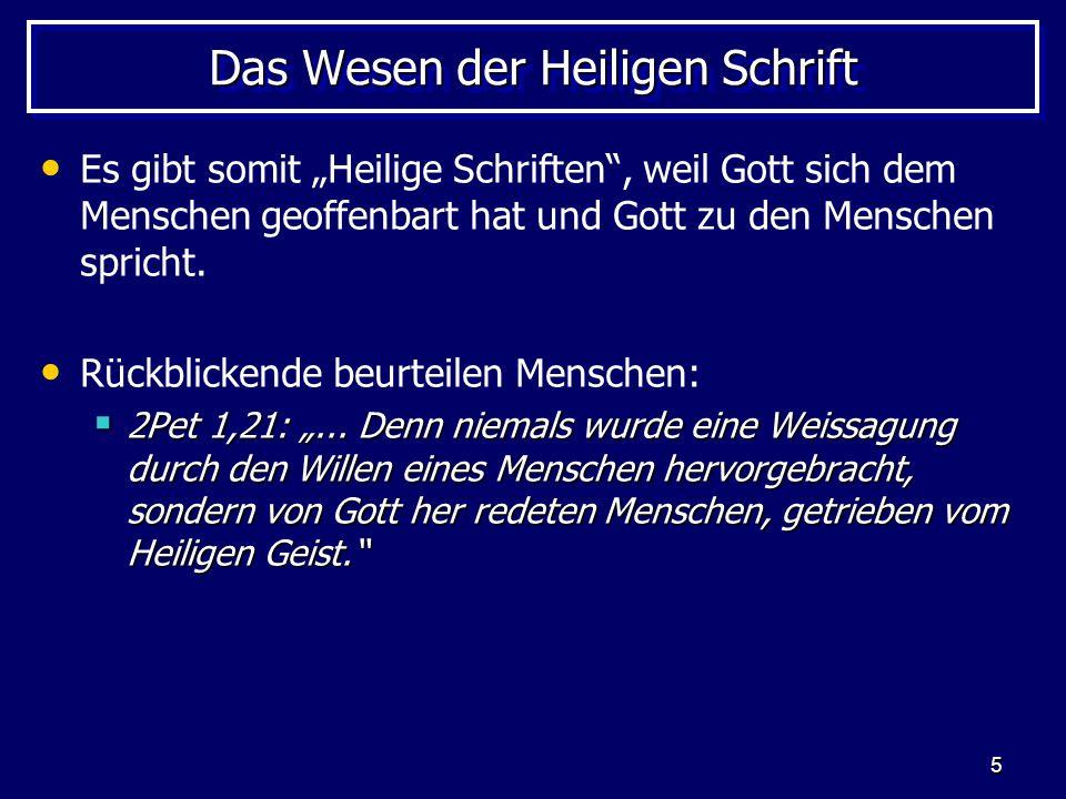 56 Die LXX und die Apokryphen Der Inhalt der LXX: Die von der Lutherbibel her bekannten alttestamentlichen Apokryphen.