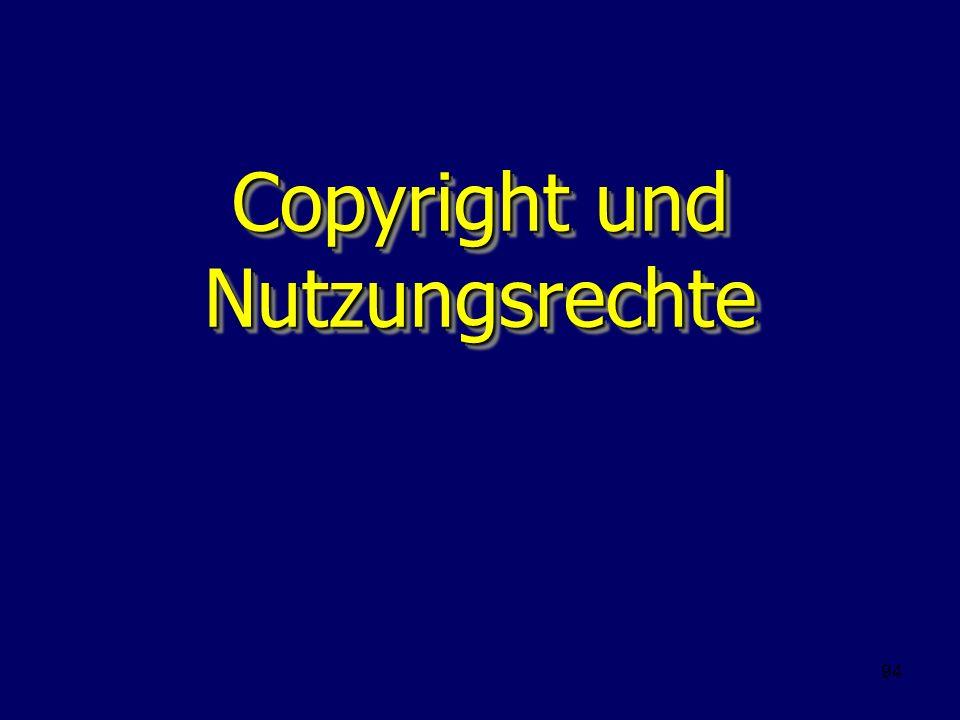 94 Copyright und Nutzungsrechte