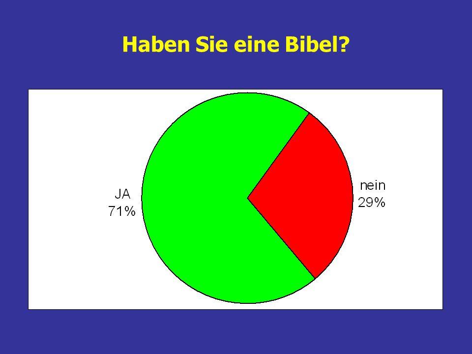 Haben Sie eine Bibel?
