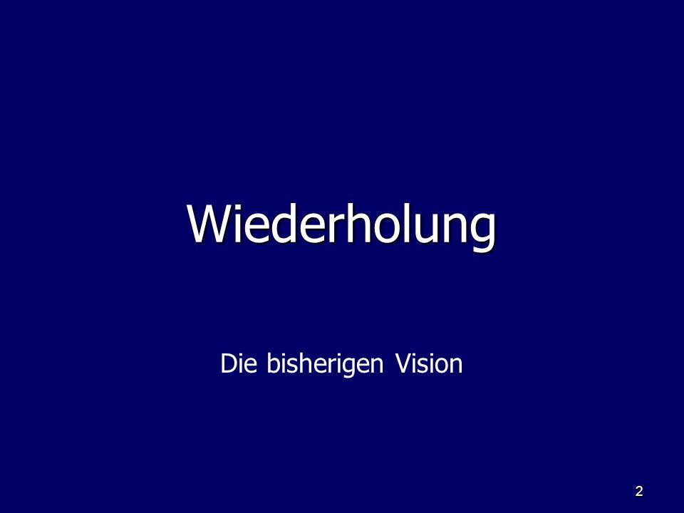 2 WiederholungWiederholung Die bisherigen Vision