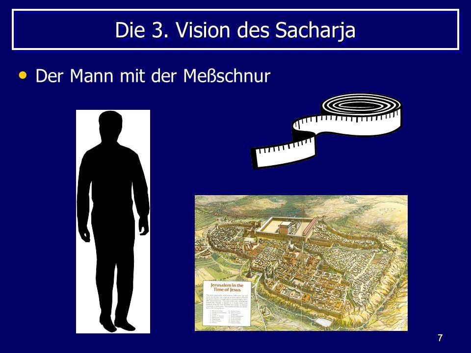 7 Die 3. Vision des Sacharja Der Mann mit der Meßschnur