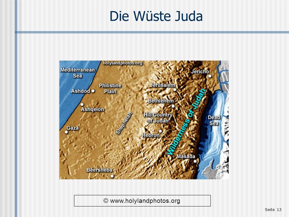 Seite 13 Die Wüste Juda © www.holylandphotos.org