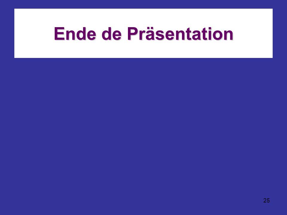 25 Ende de Präsentation