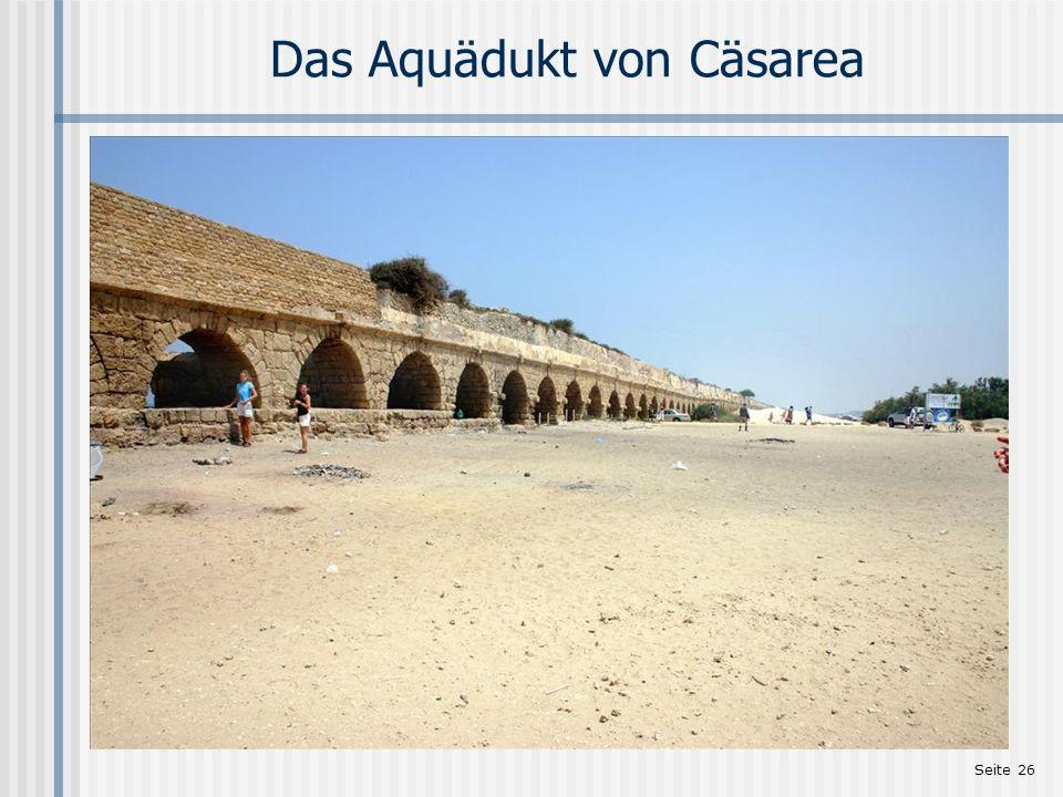 Seite 26 Das Aquädukt von Cäsarea