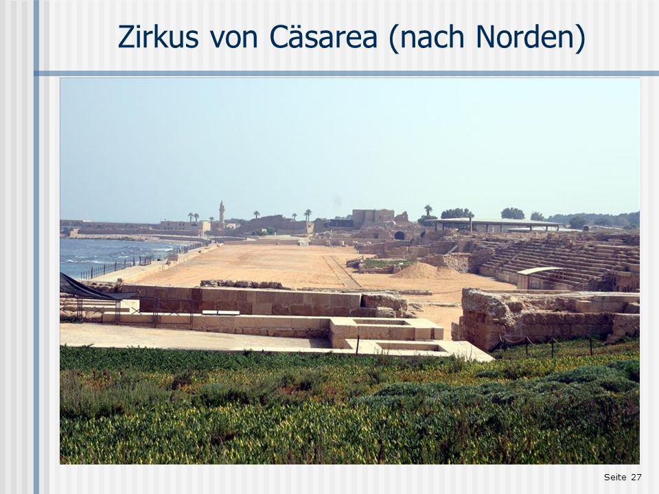 Seite 27 Zirkus von Cäsarea (nach Norden)