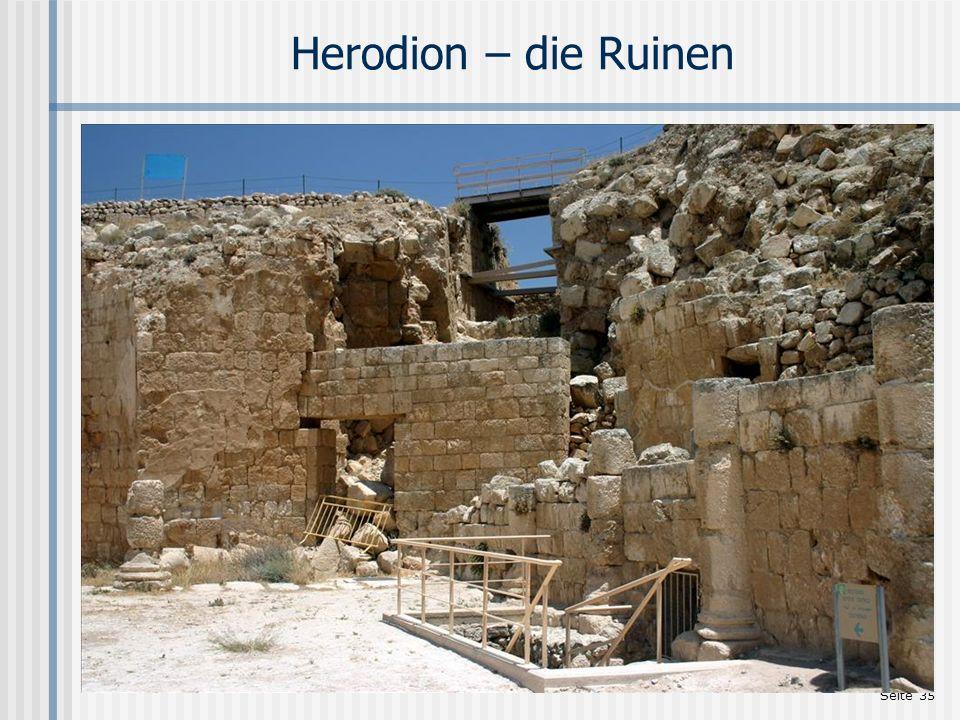 Seite 35 Herodion – die Ruinen