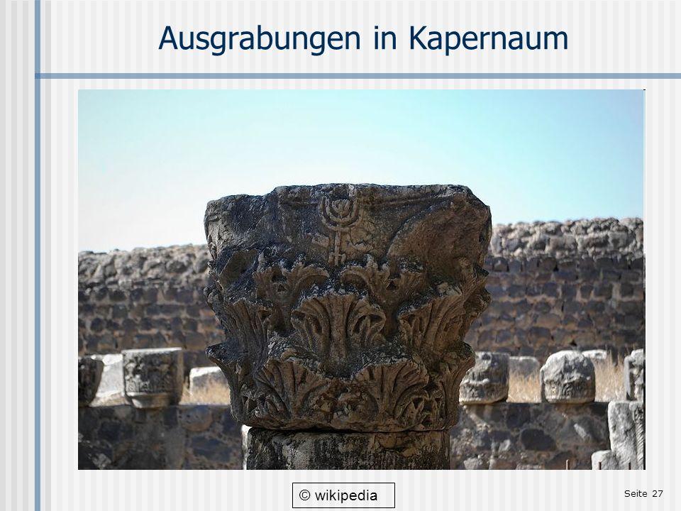 Seite 27 Ausgrabungen in Kapernaum © wikipedia