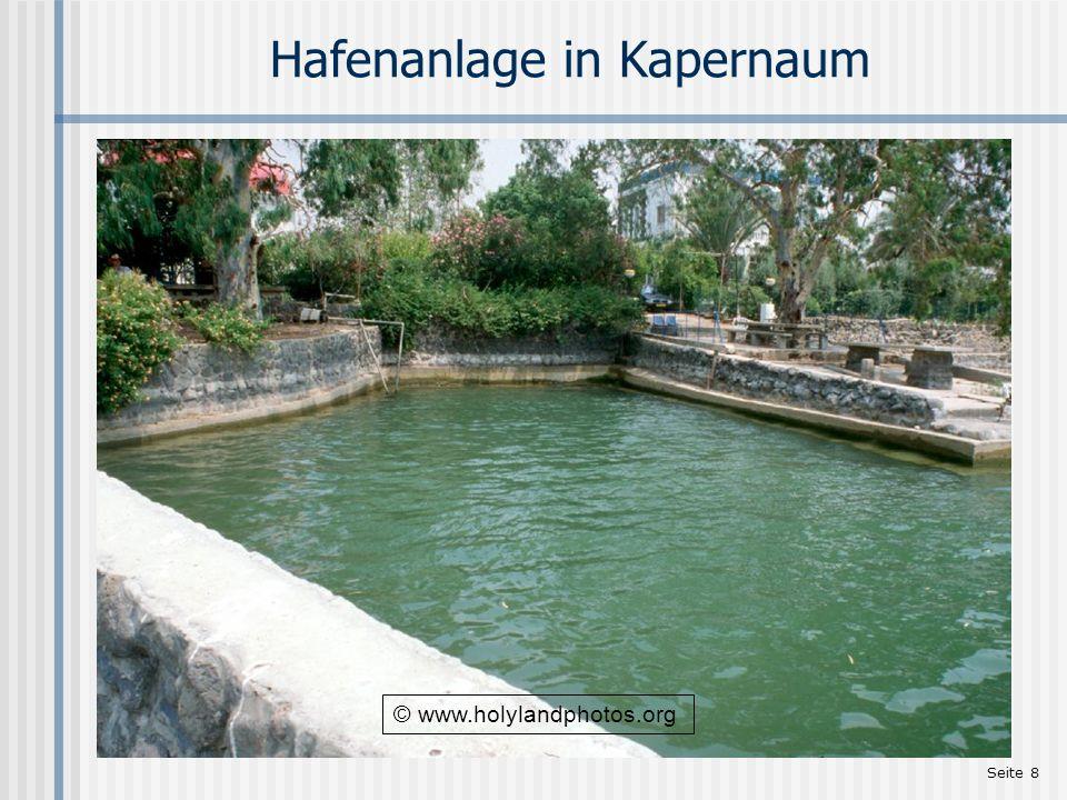 Seite 19 Die Synagoge in Kapernaum Die Ruinen stammen aus dem Ende des 4.
