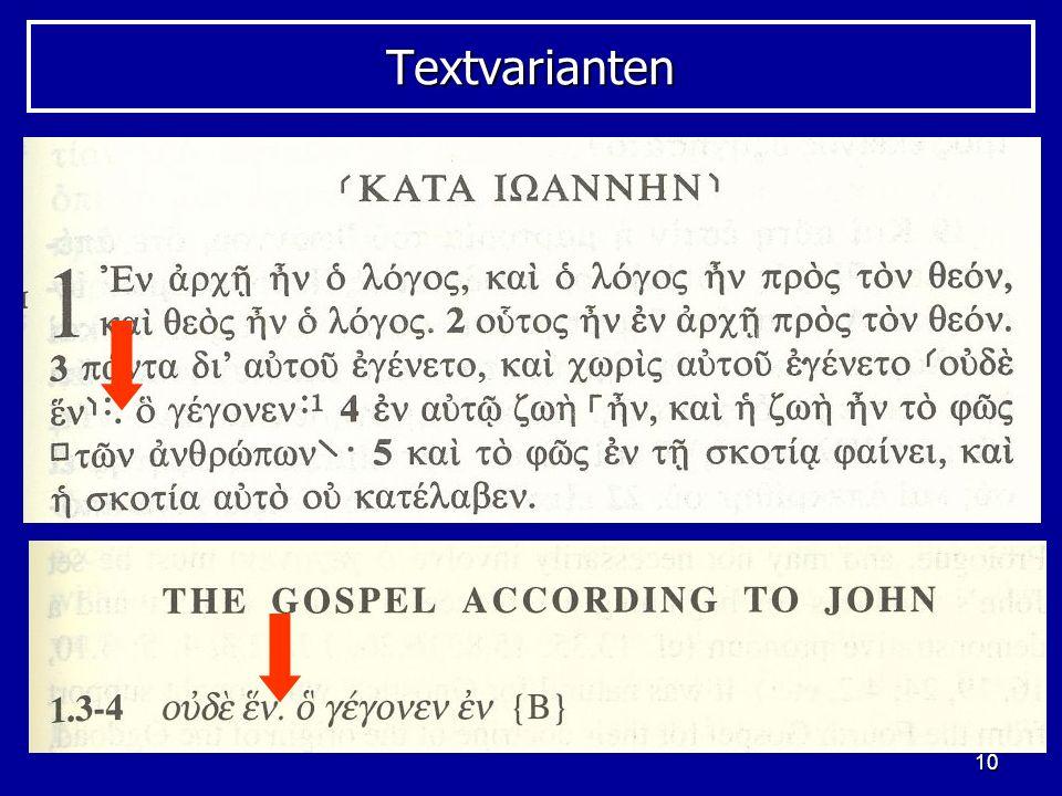10 TextvariantenTextvarianten