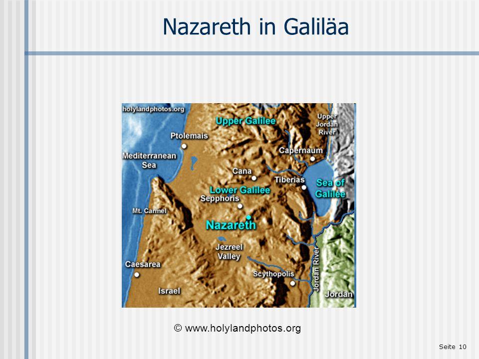 Seite 10 Nazareth in Galiläa © www.holylandphotos.org