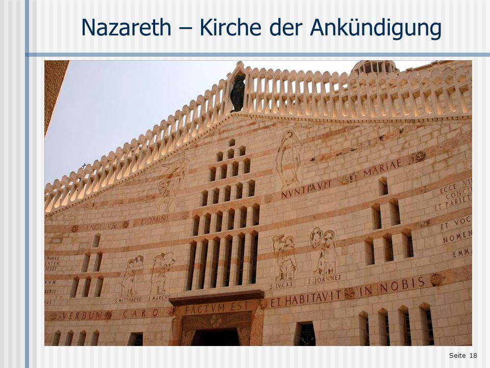 Seite 18 Nazareth – Kirche der Ankündigung