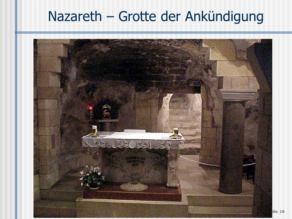 Seite 19 Nazareth – Grotte der Ankündigung