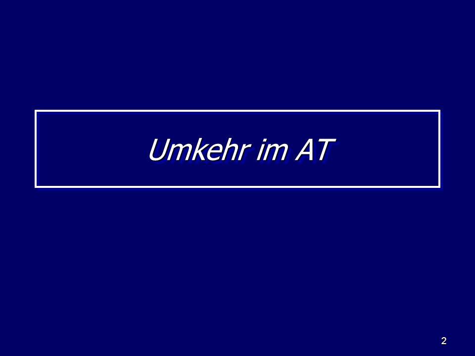 13 Die Umkehr im Neuen Testament Die Offenbarung: Die 7 Sendschreiben in Offb.