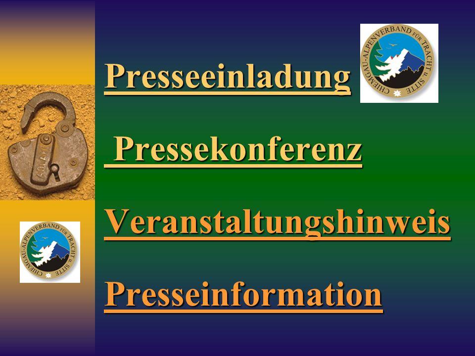 Presseeinladung Pressekonferenz Veranstaltungshinweis Presseinformation