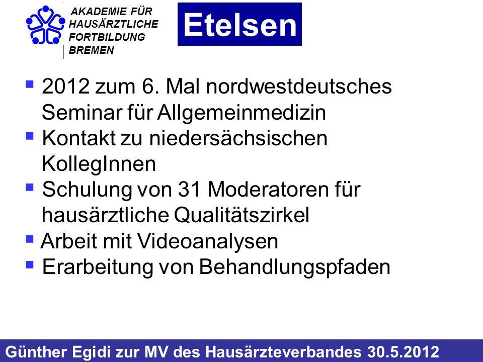 AKADEMIE FÜR HAUSÄRZTLICHE FORTBILDUNG BREMEN 2012 der 14.