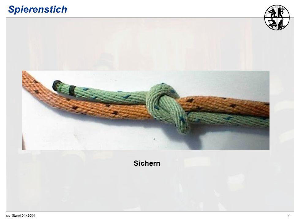 7 ppt Stand 04 / 2004 Spierenstich Sichern