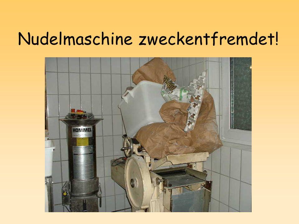 Nudelmaschine zweckentfremdet!