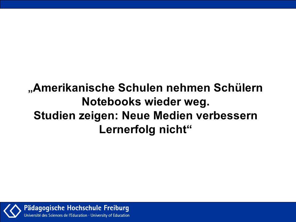 Amerikanische Schulen nehmen Schülern Notebooks wieder weg. Studien zeigen: Neue Medien verbessern Lernerfolg nicht
