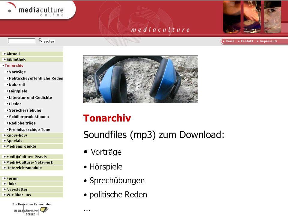http://www.mediaculture-online.de Know-how Anleitungen und Hintergrundinformationen für die eigene Medienproduktion