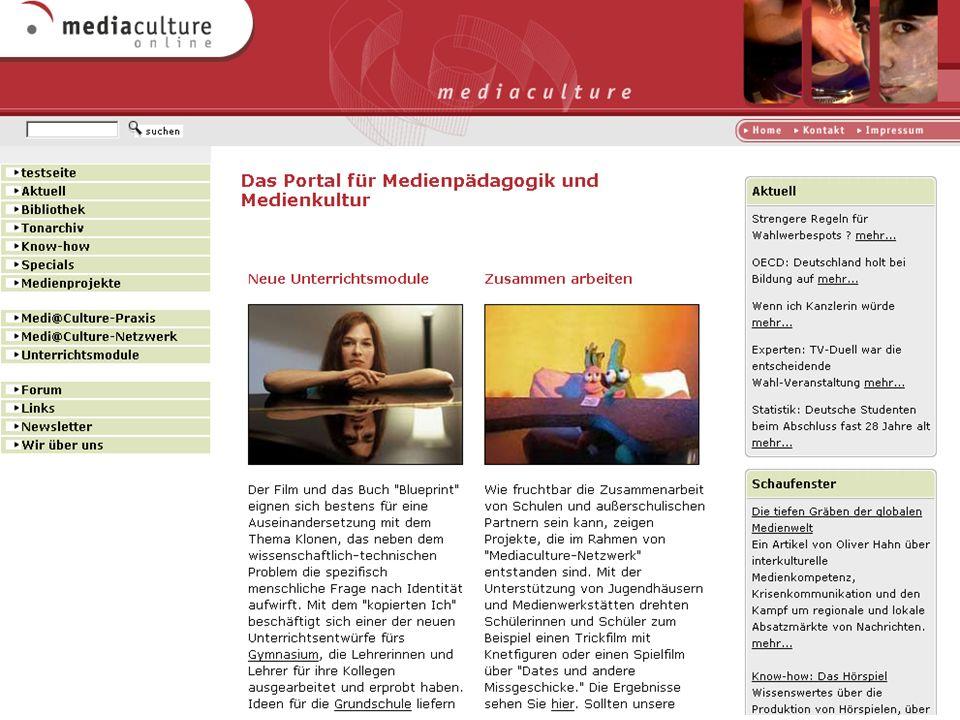 http://www.mediaculture-online.de Deutschlandradio Das Deutschlandradio Kultur berichtet über Mediaculture-online