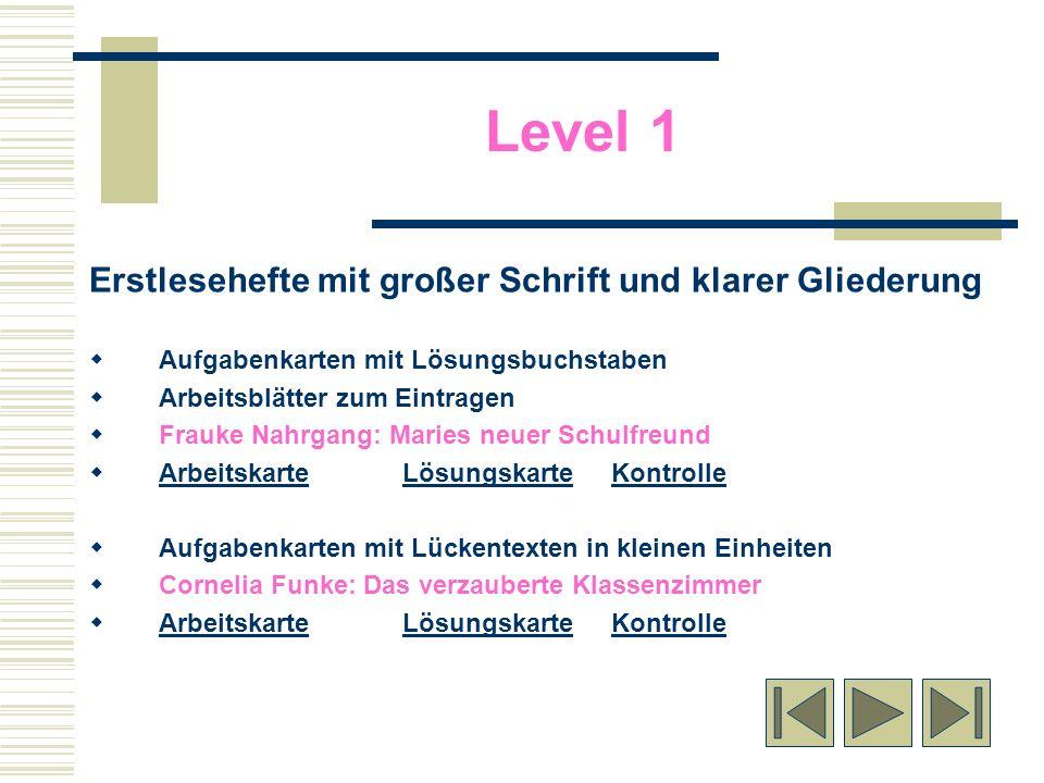 Level 1 Erstlesehefte mit großer Schrift und klarer Gliederung Aufgabenkarten mit Lösungsbuchstaben Arbeitsblätter zum Eintragen Frauke Nahrgang: Mari