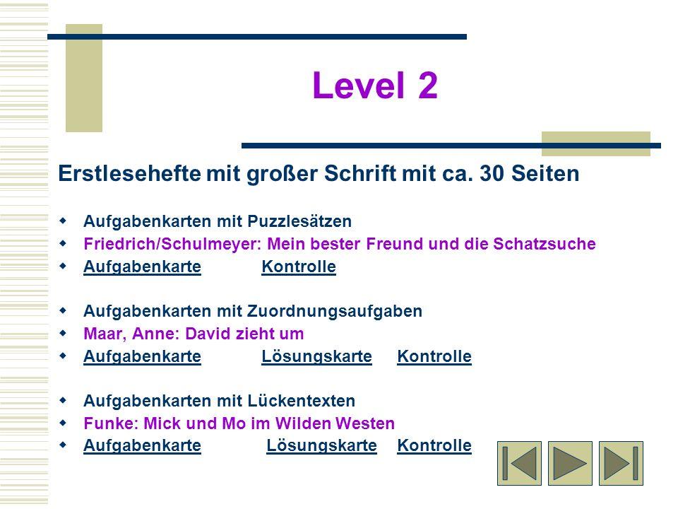 Erstlesehefte mit großer Schrift mit ca. 30 Seiten Aufgabenkarten mit Puzzlesätzen Friedrich/Schulmeyer: Mein bester Freund und die Schatzsuche Aufgab