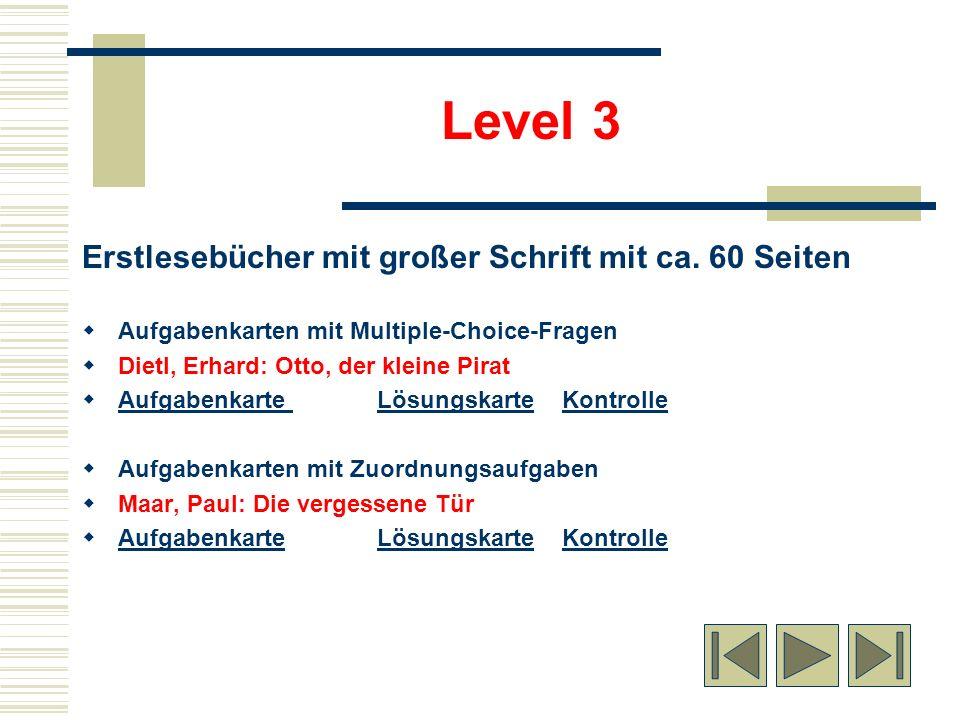 Erstlesebücher mit großer Schrift mit ca. 60 Seiten Aufgabenkarten mit Multiple-Choice-Fragen Dietl, Erhard: Otto, der kleine Pirat Aufgabenkarte Lösu