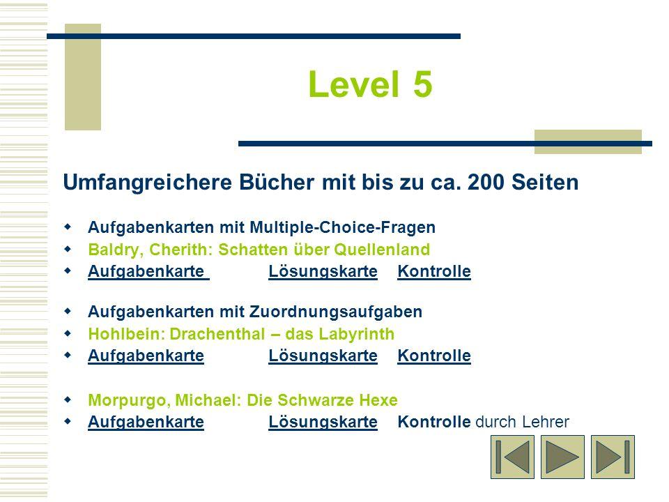 Umfangreichere Bücher mit bis zu ca. 200 Seiten Aufgabenkarten mit Multiple-Choice-Fragen Baldry, Cherith: Schatten über Quellenland Aufgabenkarte Lös