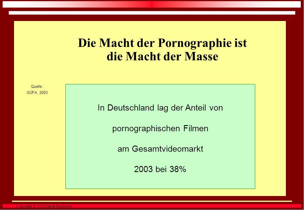 Copyright © 2010 Jakob Pastoetter. Quelle: Internet Pornography Statistics, 2006 Pornographie setzte damit mehr um als die fünf führenden Technologie-