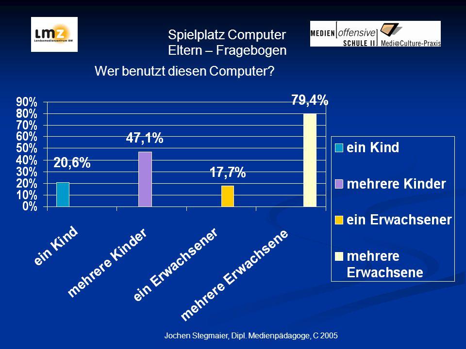 Jochen Stegmaier, Dipl.Medienpädagoge, C 2005 Wer benutzt diesen Computer.