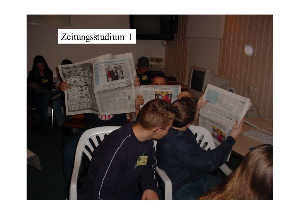 Zeitungsstudium 1