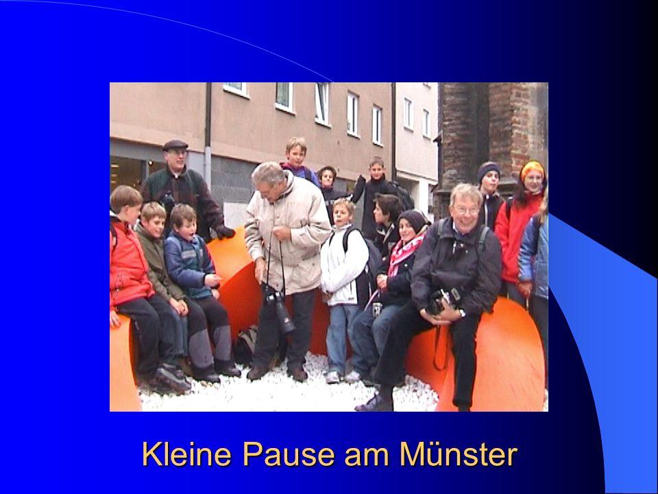 Kleine Pause am Münster