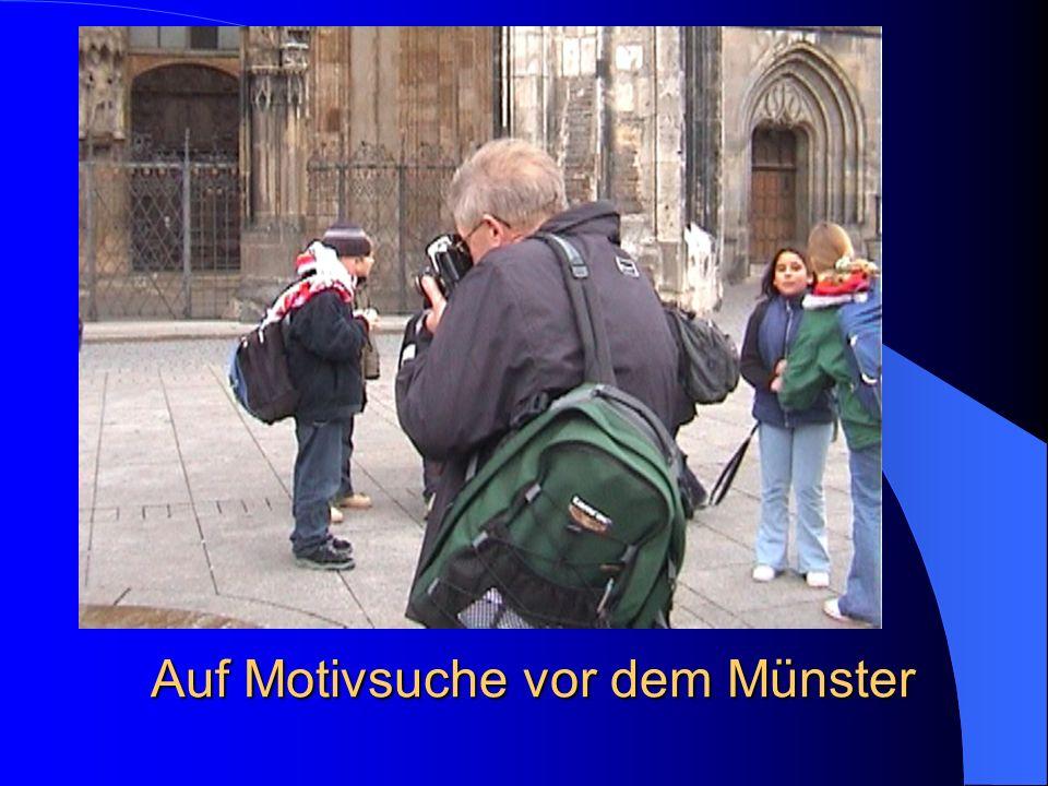 Auf Motivsuche vor dem Münster
