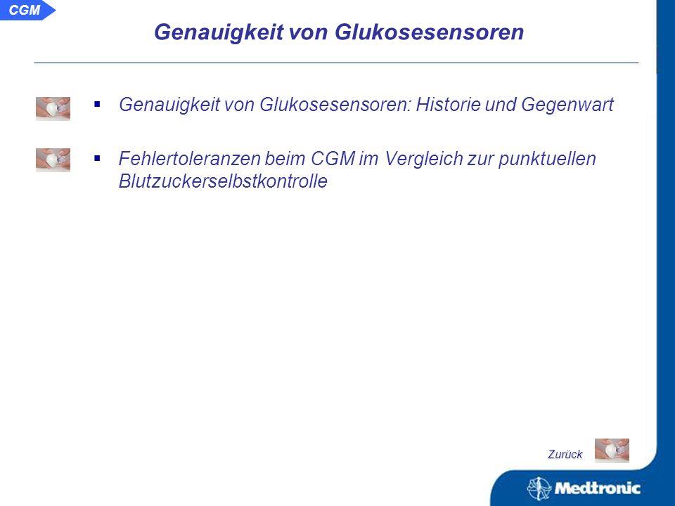 Genauigkeit von Glukosesensoren Zurück CGM